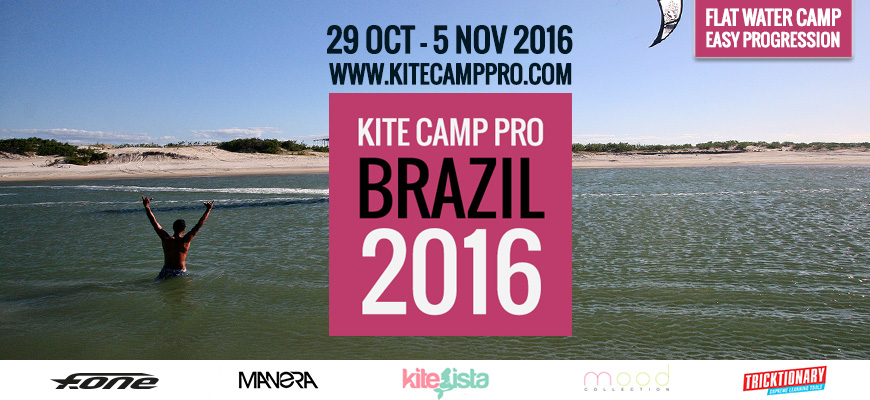 Kite Camp Pro coaching in Brazil Flat Water Camp – Parajuru – 2016
