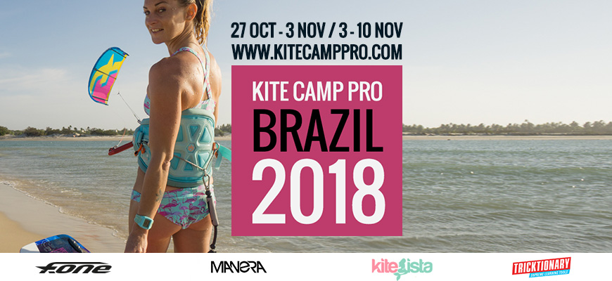 Kite Camp Pro coaching in Brazil Flat Water Camp – Parajuru – 2018