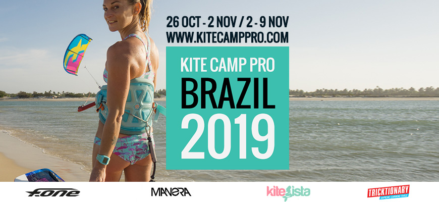 Kite Camp Pro coaching in Brazil Flat Water Camp – Parajuru – 2019